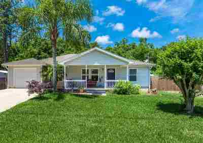 St Augustine Single Family Home For Sale: 428 Crescent Blvd