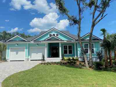 St Augustine Beach Single Family Home For Sale: 462 Ridgeway Road #LOT 28