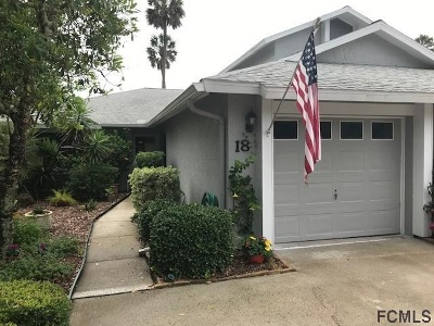 Palm Coast Townhouse For Sale: N 18 Lake Forest Ct