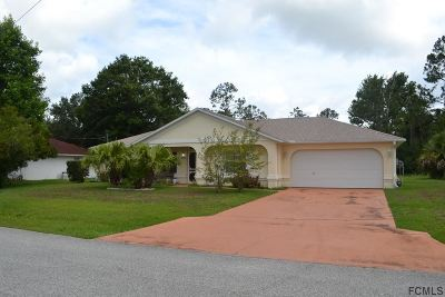 Palm Coast Single Family Home For Sale: 33 White House Drive