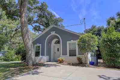 St Augustine Beach FL Single Family Home For Sale: $320,000
