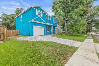 St Augustine Single Family Home For Sale: 23a May Street