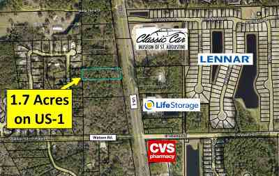St Augustine FL Residential Lots & Land For Sale: $450,000