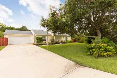 St Augustine Beach FL Single Family Home Conting_accpt Backups: $289,000