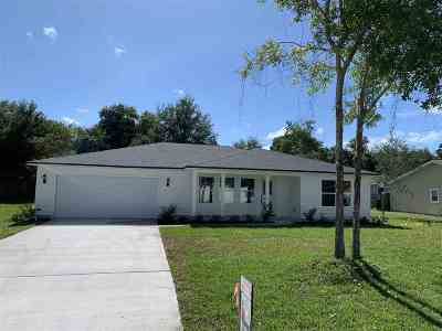 St Augustine Single Family Home For Sale: 1144 Prince Road