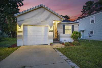 St Augustine Single Family Home For Sale: 3312 Lewis Speedway