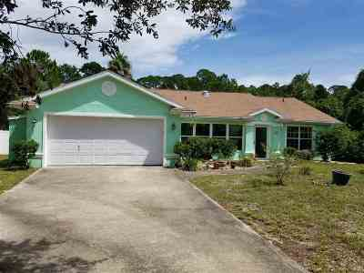 St Augustine Single Family Home For Sale: 6884 Cypress Point Dr