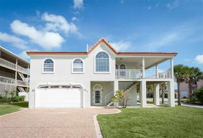 St Augustine Beach Single Family Home For Sale: 4 3rd St.
