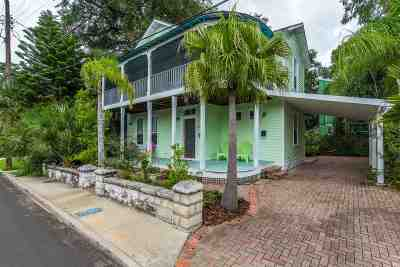St Augustine Single Family Home For Sale: 104 Lincoln Street
