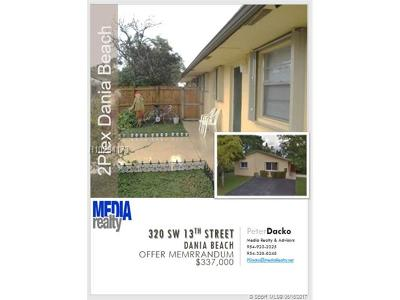 Dania Beach Multi Family Home For Sale: 320 SW 13th St