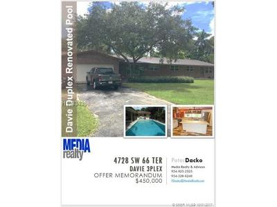 Davie Multi Family Home For Sale: 4728 SW 66th Ter