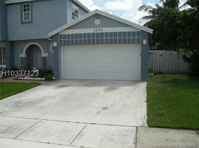 Miramar Single Family Home For Sale: 3191 Jasper Way