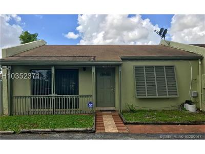 Miami Gardens Condo/Townhouse For Sale: 20420 NW 15th Ave #7