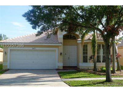 Miramar Single Family Home For Sale: 2857 SW 177th Ave