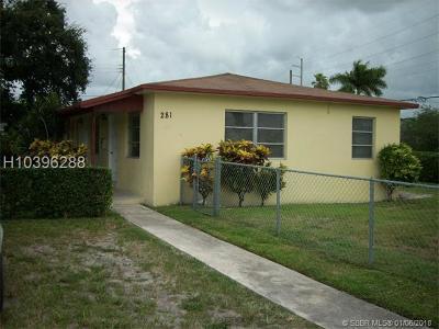 Dania Beach Multi Family Home For Sale: 281 SW 7th St