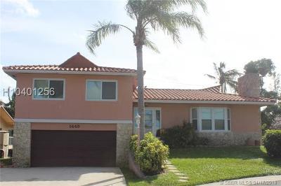 Dania Beach Single Family Home For Sale: 1449 Nautilus Isle