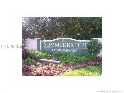 Sunrise Condo/Townhouse For Sale: 9999 Summerbreeze Dr #609