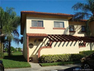 Sunrise Condo/Townhouse For Sale: 4627 NW 90th Ave #4627