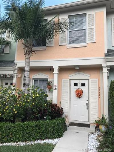Weston Condo/Townhouse Backup Contract-Call LA: 16745 Hemingway Dr #16745