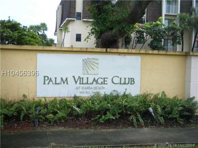 Dania Beach Condo/Townhouse For Sale: 500 NE 2nd St #306