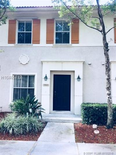 Miramar Condo/Townhouse For Sale: 10023 SW 24th St #10023