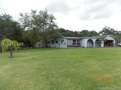 Southwest Ranches Single Family Home For Sale: 18521 SW 55th St