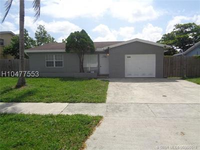 Tamarac Single Family Home For Sale: 5610 NW 57th Way
