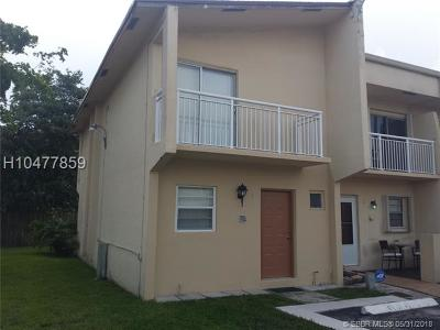 Hollywood Condo/Townhouse Backup Contract-Call LA: 3791 NW 78th Ave #1