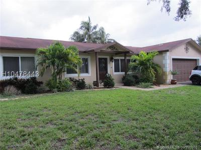 Cooper City Single Family Home For Sale: 11536 SW 55th Ct