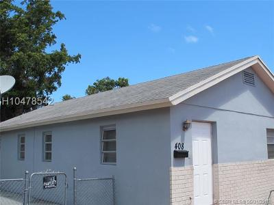 Hallandale Multi Family Home For Sale: 408+410 NW 9