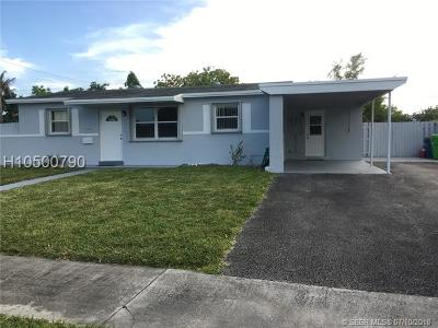 Sunrise Single Family Home For Sale: 2041 NW 62nd Ter