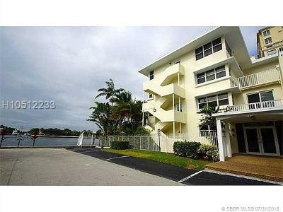 Fort Lauderdale Condo/Townhouse For Sale: 125 N Birch Rd #107