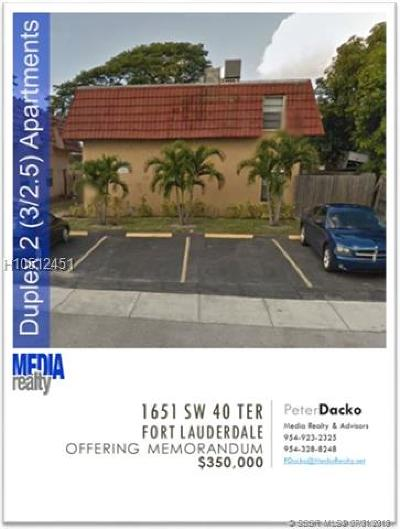 Fort Lauderdale Multi Family Home For Sale: 1651 SW 40th Ter