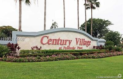 Pembroke Pines Condo/Townhouse For Sale: 1200 SW 124th Ter #203O