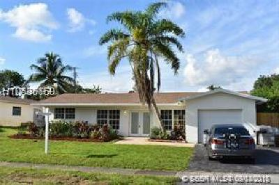 Plantation Single Family Home Active With Contract: 4514 NW 3rd Ct