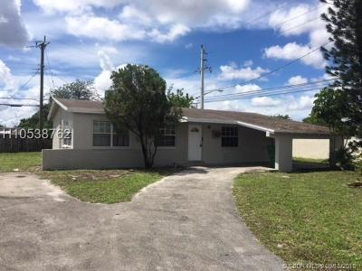 Lauderhill Single Family Home For Sale: 1891 NW 33rd Ave