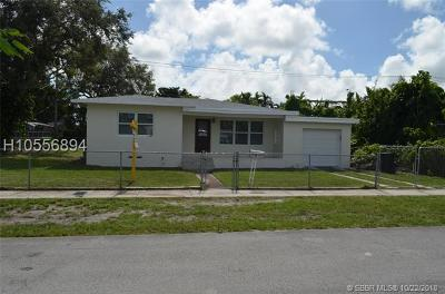 North Miami Beach FL Single Family Home For Sale: $339,900