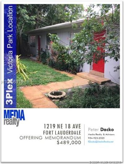 Fort Lauderdale FL Multi Family Home For Sale: $489,000