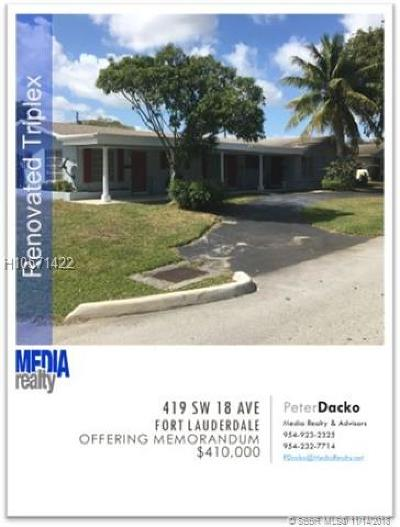 Fort Lauderdale FL Multi Family Home For Sale: $415,000