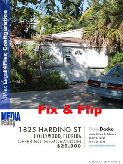 Hollywood Multi Family Home For Sale: 1825 Harding St