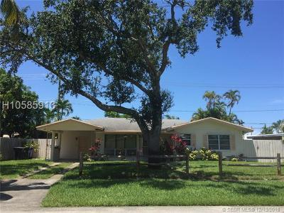 Fort Lauderdale Single Family Home Active With Contract: 2131 NE 53rd St
