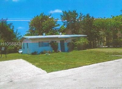 Fort Lauderdale FL Single Family Home Active With Contract: $215,000