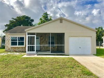 Davie Single Family Home Active Under Contract: 1601 SW 129th Way