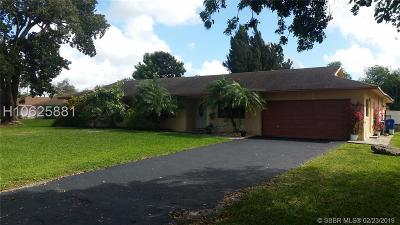 Southwest Ranches Single Family Home For Sale: 5910 SW 195th Ter