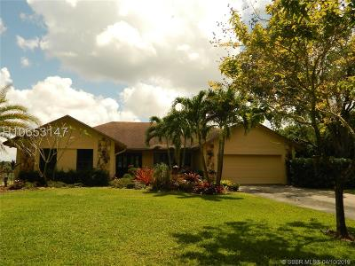 Southwest Ranches FL Single Family Home For Sale: $689,900
