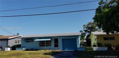 Sunrise Single Family Home Active Under Contract: 6840 NW 26th St