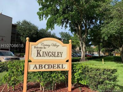 Pembroke Pines Condo/Townhouse For Sale: 13475 SW 9th St #201A