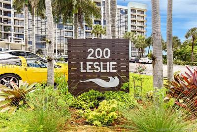 Hallandale Condo/Townhouse For Sale: 200 Leslie Dr #207