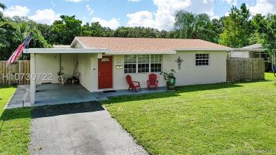 Cooper City Single Family Home Active Under Contract: 5264 SW 92nd Ter