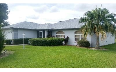 Sebring Single Family Home For Sale: 6315 Columbus Blvd